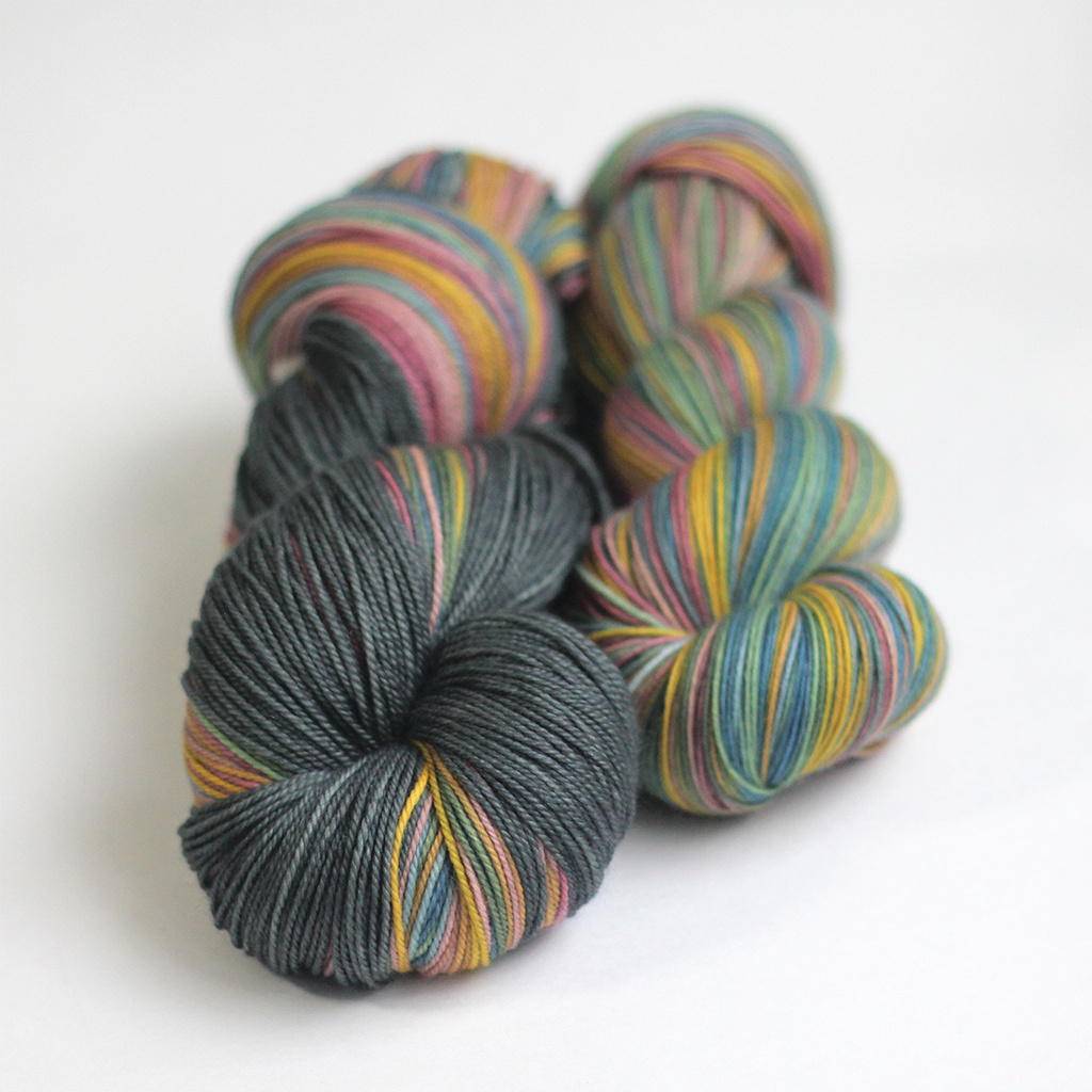 Whiskey in a Teacup hand dyed yarn wool collection from Gauge Dye Works