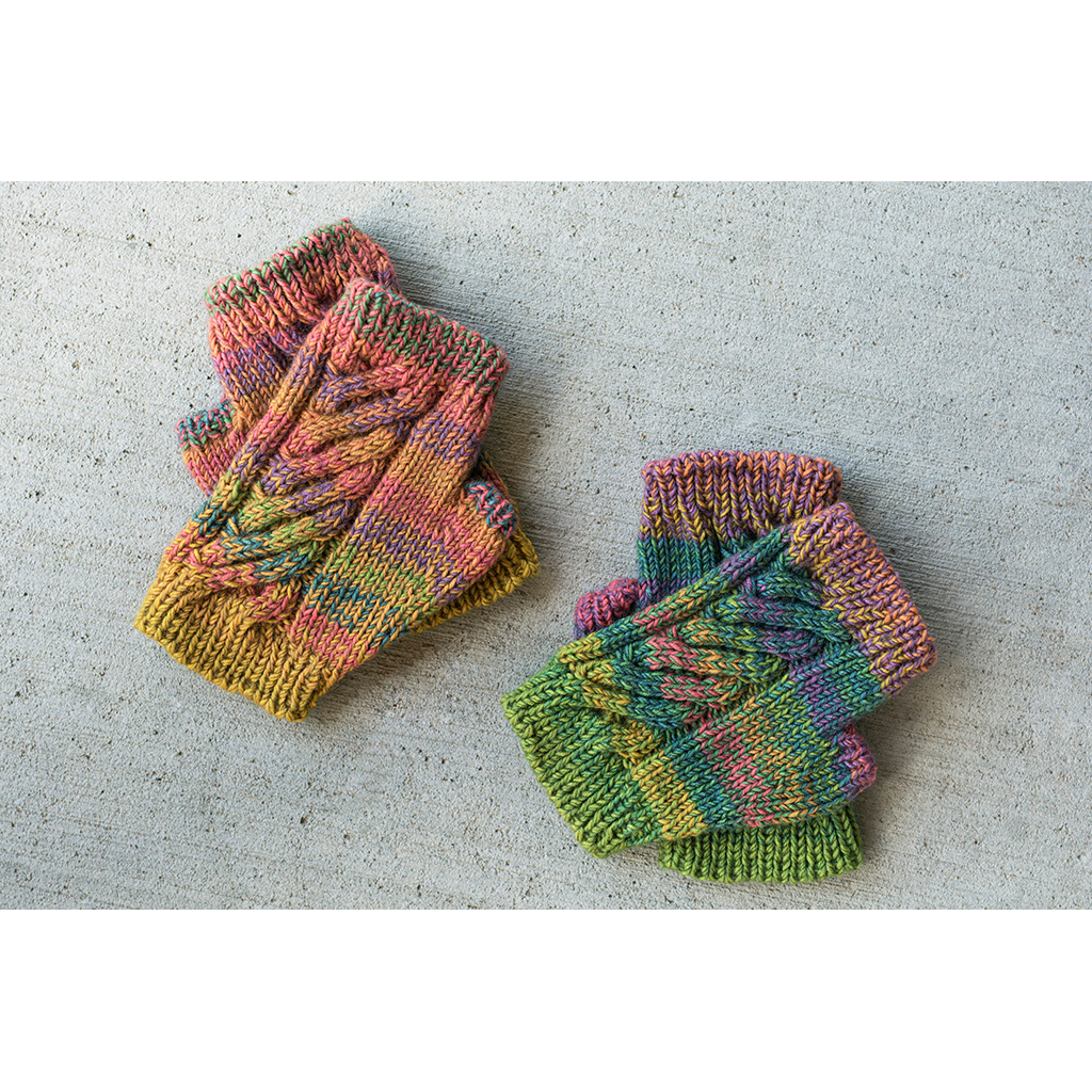 Double Rainbow Mitts | Yarn and pattern subscription club from Gauge Dye Works and Andrea Rangel