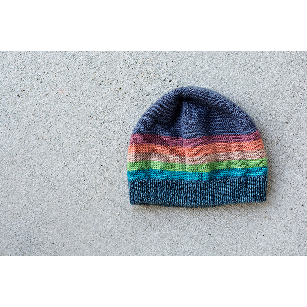 Full Spectrum Hat | Yarn and pattern subscription club from Gauge Dye Works and Andrea Rangel
