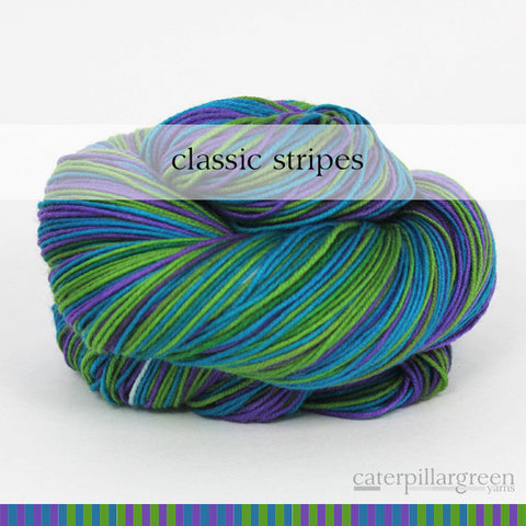 g biv  : caterpillargreen self-striping yarns