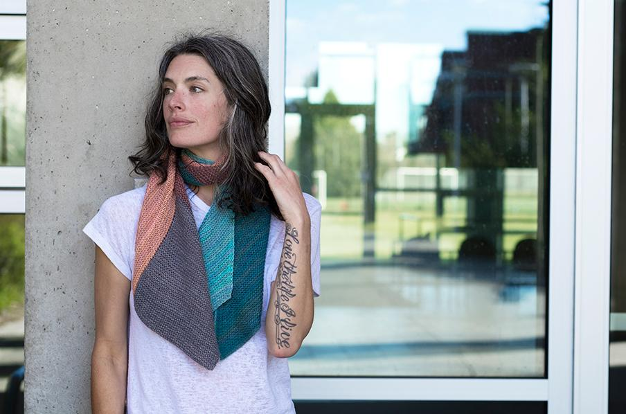 Saxe Point | Knit Outside collection from Andrea Rangel and Gauge Dye Works