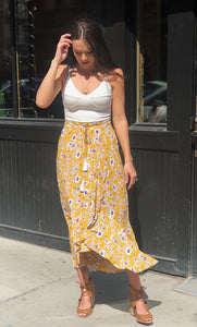 MARGOT MUSTARD SKIRT