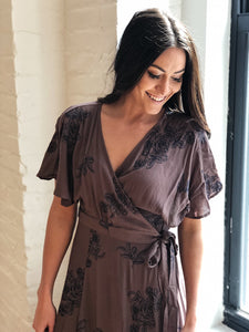 THE FLORAL FOUR SEASONS WRAP DRESS