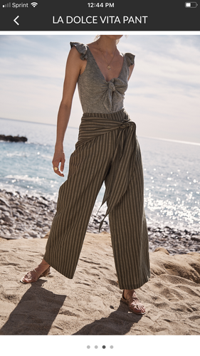 Hunter green striped pants
