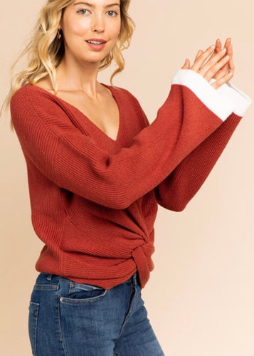TONYA TWIST SWEATER
