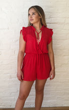 Load image into Gallery viewer, RADIANT RED ROMPER