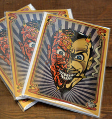 Vince Ray`s greetings card Devils Head