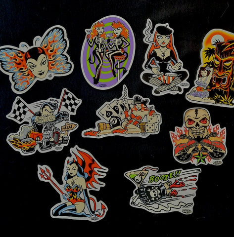 Collection of Vince Ray stickers