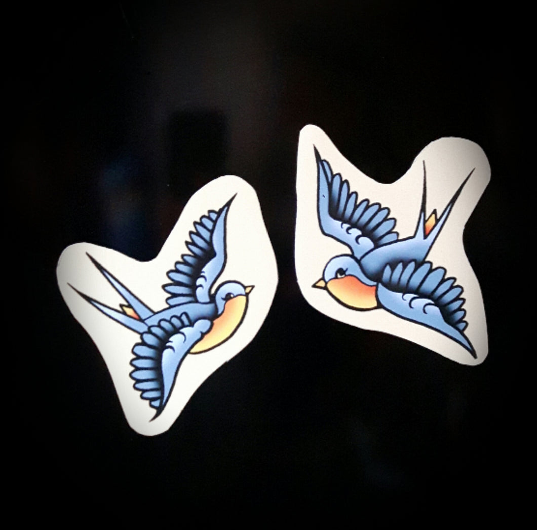 Vince Ray set of 2 swallow fridge magnets