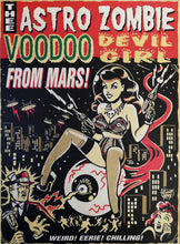 Load image into Gallery viewer, lowbrow vince ray canvas art print zombie eyeball girl from Mars