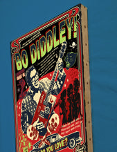 Load image into Gallery viewer, Vince Ray`s tribute to Bo Diddley, Print on Canvas