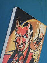 Load image into Gallery viewer, Vince Ray Devil Guy lowbrow art print on canvas