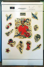 Load image into Gallery viewer, Tattoo Flash Fridge Magnets (set of 12)