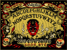Load image into Gallery viewer, Vince Ray Ouija Board print on canvas lowbrow art