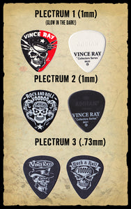 Plectrums, set of 3 double sided
