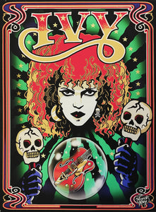 Poison Ivy, The Cramps tribute print on canvas