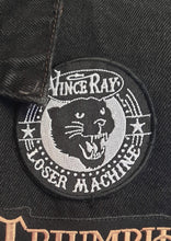 Load image into Gallery viewer, Vince Ray panther cat, Loser Machine black and white embroidered patch