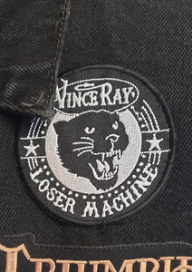 Vince Ray panther cat, Loser Machine black and white embroidered patch