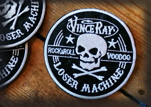 Vince Ray Loser Machine Skull iron on embroidered patch