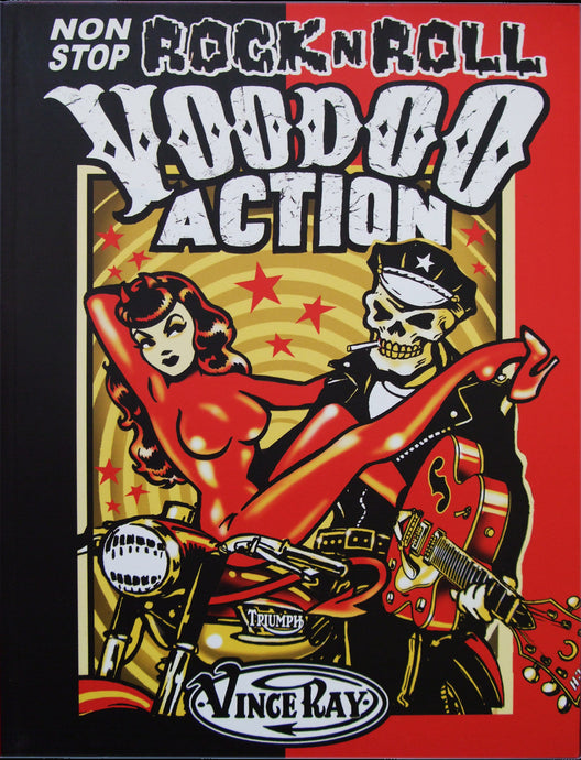 Vince Ray Book 2 Non Stop Rock n Roll Voodoo Action lowbow art book