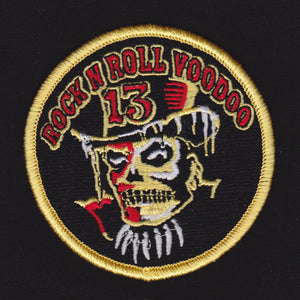 Vince Ray embroidered patch, Rock and Roll Voodoo 13