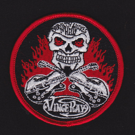 Vince Ray`s embroidered patch, Everybody Smokes in Hell
