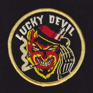 Vince Rays embroidered patch, Lucky Devil