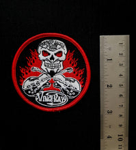 Load image into Gallery viewer, Vince Ray`s embroidered patch, Everybody Smokes in Hell