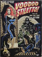Load image into Gallery viewer, Vince Ray Voodoo Stiletto art lowbrow stretched canvas print