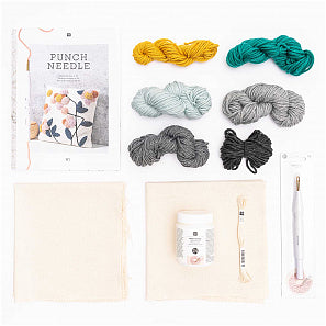 Punch Needle Kit - Pillow Flower
