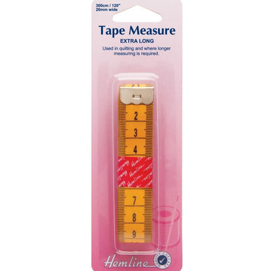 Hemline - Tape Measure: Extra Long - 300cm