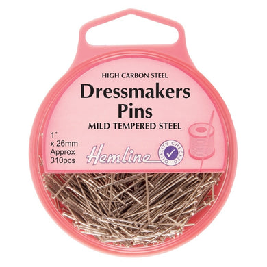 Hemline Dressmaker Pins: Nickel: 27mm, 310pcs