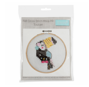 Felt Cross Stitch Kit - Toucan