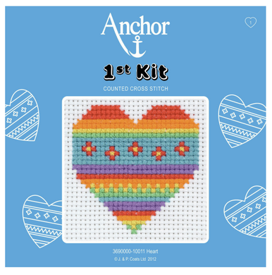 1st Counted Cross Stitch Kit - Heart