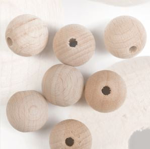 Wooden Beads - 15mm or 20mm