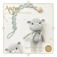 Load image into Gallery viewer, My First Friend - Crochet Cuddly Hippo Kit