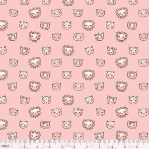 Blend - Lions and Tigers and More! Feline Faces Pink
