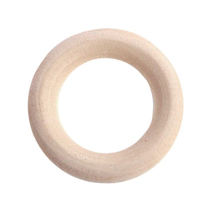 Wooden Rings 45mm 4 Pack