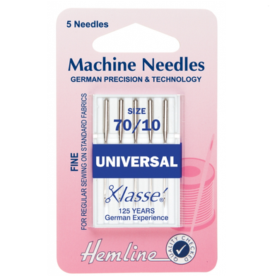 Hemline Universal Machine Needles: Fine 70/10