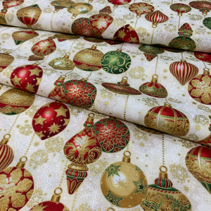 Traditional Baubles Fat Quarter