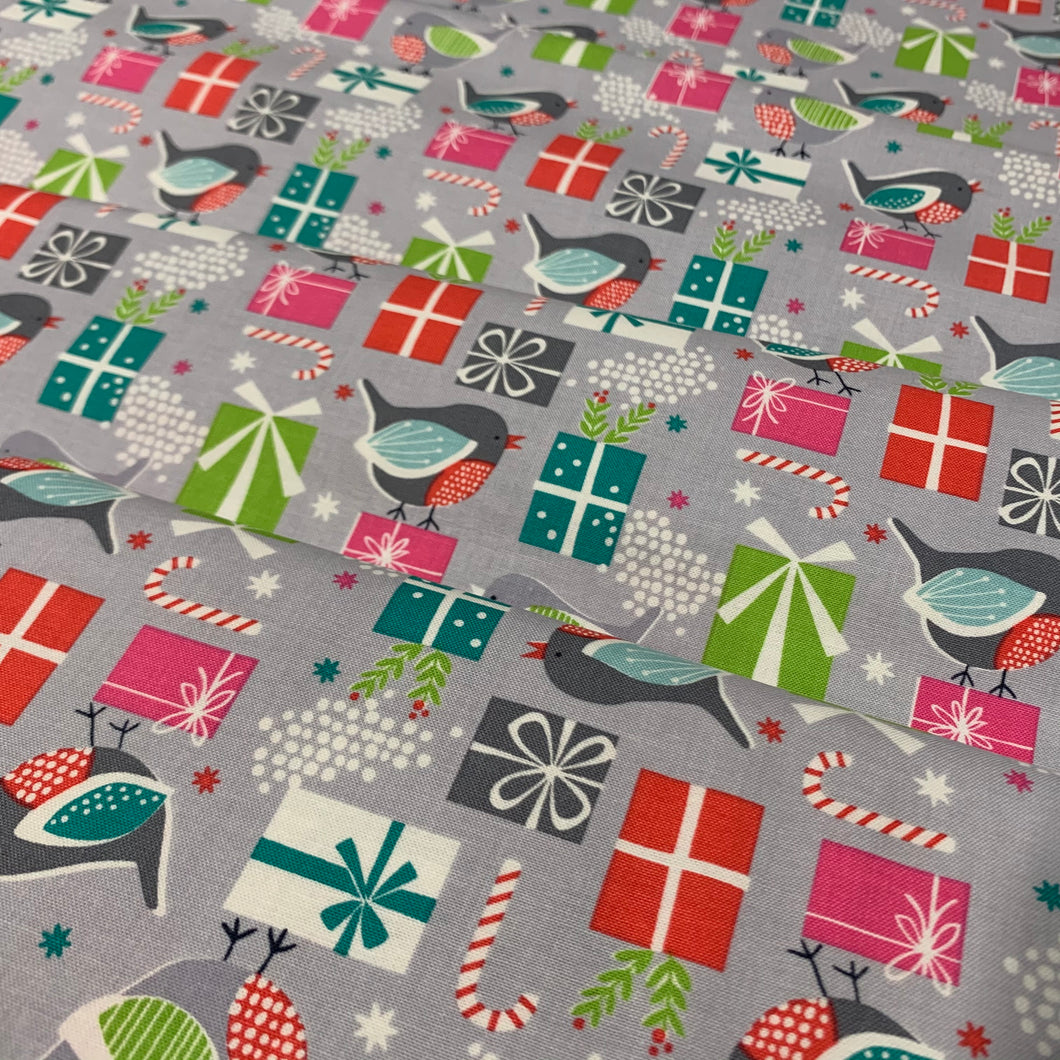 Birds and Presents Fat Quarter