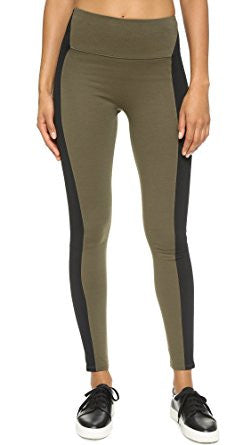 Spanx Green/Black Textured Leggings
