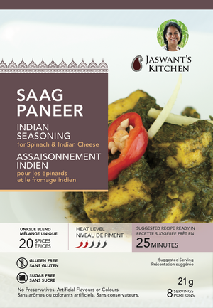 Jaswant's Kitchen Saag Paneer Seasoning Pouch