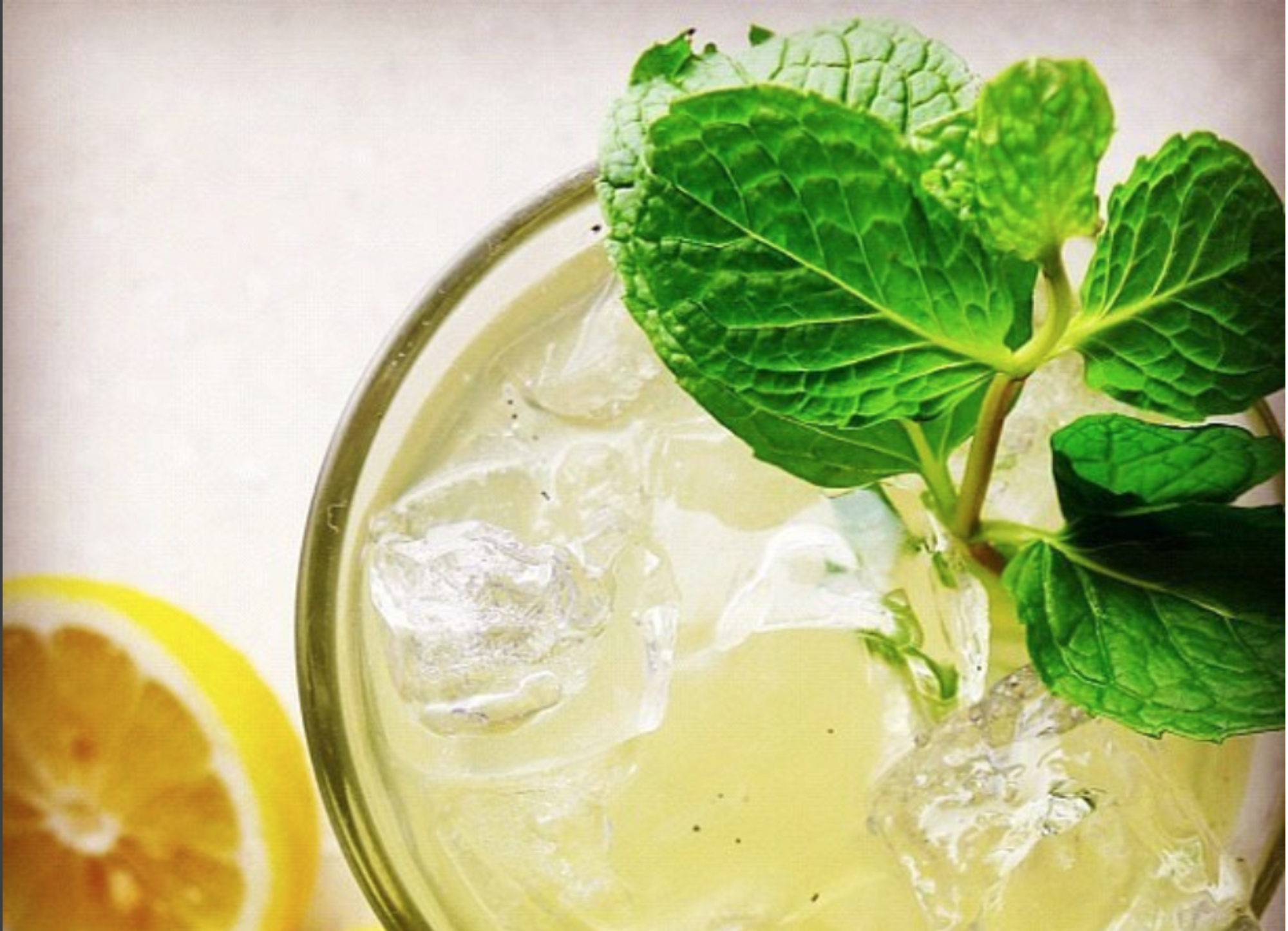 Indian Inspired Lemonade with mint & ginger