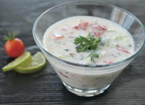 Add to plain yoghurt to make Raita
