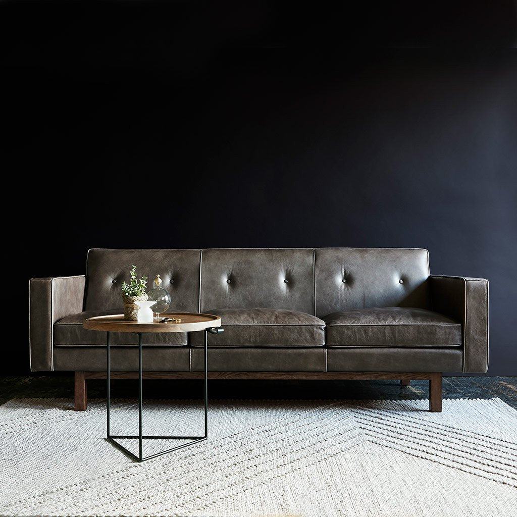 Embassy Sofa | Saddle Grey Leather