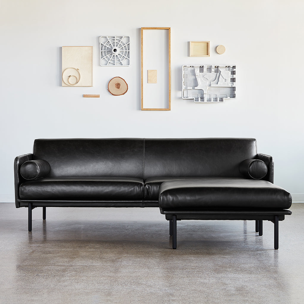 Foundry Bi-Sectional | Saddle Black Leather