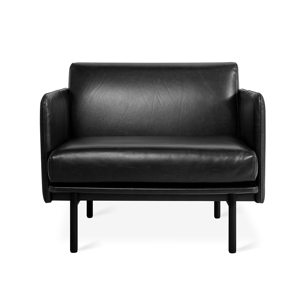 Foundry Chair | Saddle Black Leather