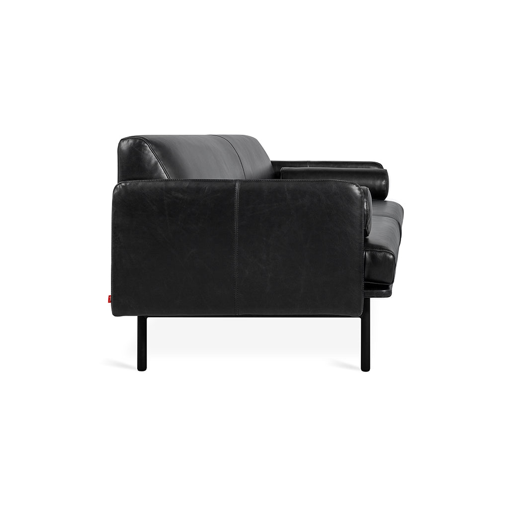 Foundry Sofa | Saddle Black Leather