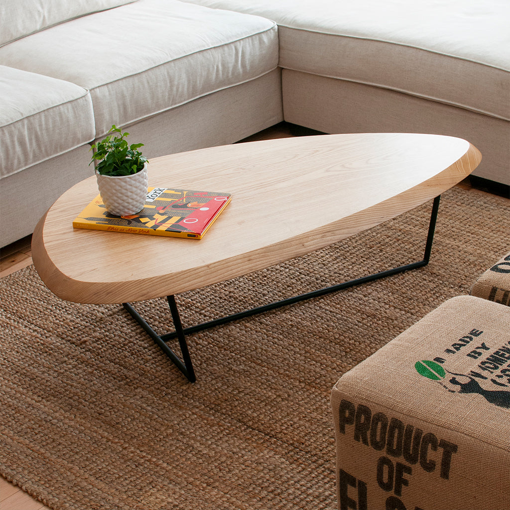 Hull Coffee Table | Natural Ash & Black